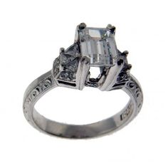 Pre-owned Tacori Platinum Diamond Ring featuring polyvore, women's fashion, jewelry, rings, platinum diamond ring, preowned engagement rings, diamond jewellery, pre owned rings and engagement rings