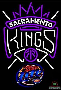 Miller Lite Sacramento Kings Neon Sign NBA Teams Neon Light