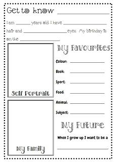 Free printable - Get to Know Me for Mimi's first day of kindergarten?