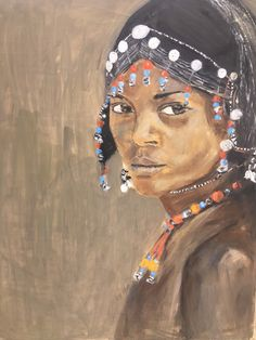 Oil on canvas Part of a triptych Triptych, African Women, Oil On Canvas, Disney Characters, Fictional Characters, Disney Princess, Painting, Art, Art Background