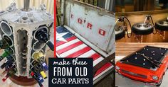 These old car parts have been upcycled into some of the most phenomenal and creative DIY projects I've ever seen! When we madethe wheel rim fire pit to add to our other patio decor, it got me thinking about more projects and crafts to make from old car parts. I was astounded to find awesome D