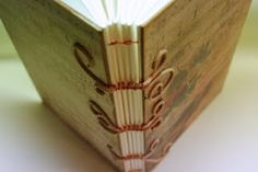 sewing over cords bookbinding www.carrieavery.com