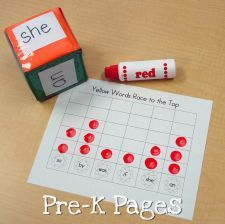 Spring sight word race to the top (Pre-K Pages)