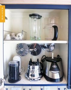 Appliance Cabinet Before & After: I Discovered the Best Way to Store Food Processor Blades — Regina's Kitchen Organization Project