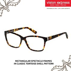 4718a7d66f Make a bold fashion statement with these tortoise-shell patterned spectacle  frames Model - VX GV SENSAYA