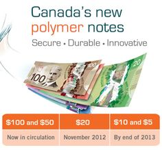 Canada's new polymer notes