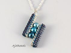 Přívěsek - mřížkové - modrá-nikl-stříbrná
