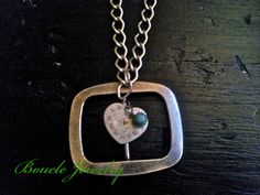 Unique Belt Buckle necklace  A cute heart shaped by BoucleJewelry, $15.00