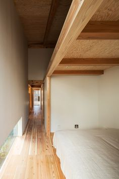 Japanese house with custom-made plywood interior