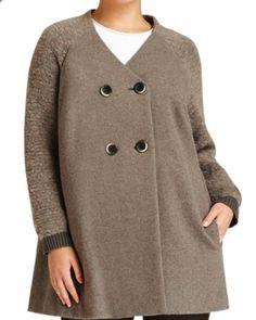 Lafayette 148 Plus Size Knit Coat