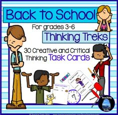 Back to School Thinking Treks (BUT also well suited for any time of the year) is a set of 30 TASK CARDS, designed as a way for students to get to know each other at the beginning of a school year. All treks involve discussion and problem solving and are ideal for collaborative learning.