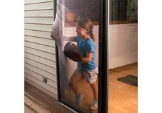 Have pets that like to run into the screen of your sliding door thinking it's fully open? We don't but the idea of a Flexible Screen Door is awesome.