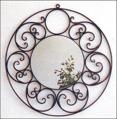 Moroccan craft- object of decoration: Moroccan handicrafts Mirror of Wrought iron