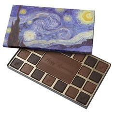 Vincent Van Gogh Starry Night 45 Piece Box Of Chocolates
