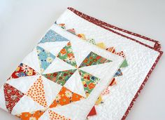 Snippets Quilt by ZanieZoo, via Flickr