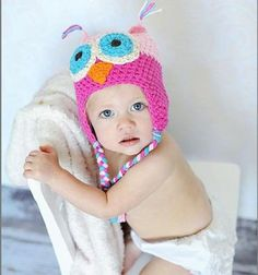 Toddler Girl Crochet Hat Handmade Warm Cap Winter Beanie *** Details can be found by clicking on the image.