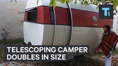 This telescoping camper doubles in size to become a tiny home