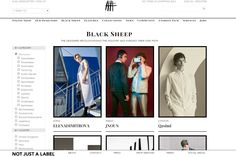 """NOT JUST A LABEL's Black Sheep are a selection of designers from the NJAL community that the scouting team have identified as being especially innovative, pioneering and striking in their work.  NJAL's logo, a black sheep, was chosen because of the mission the company set for itself: stand out, swim against the stream, break moulds and change the landscape of fashion."" THANK YOU, NJAL!!!"