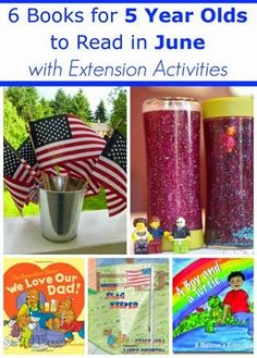 June Books for 5 Year Olds with Extension Activities