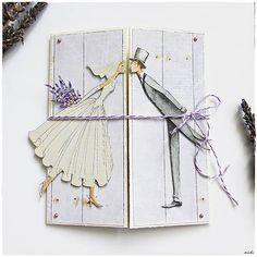 misha_cards / Svadobná pohľadnica levanduľová