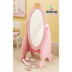 KidKraft - Princess Cheval Mirror $49.00 Cute toddler mirror for Alexandra's room..will out grow this one.