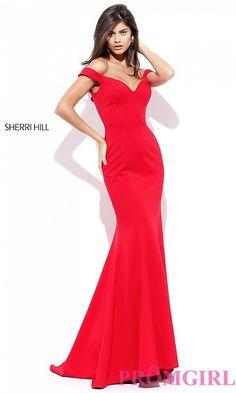 a799a106b0c Off-the-Shoulder Mermaid Prom Dress by Sherri Hill