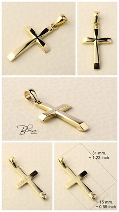 14KT GOLD CROSS CROSS