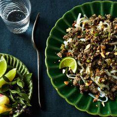 Thai-style Beef Salad over Angel-Hair Pasta. Via F&W (www.foodandwine.com).