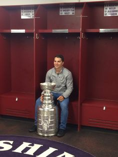 Conor Sheary returned to his old stall at Cushing Academy in Ashburnham, Massachusetts with the Stanley Cup.