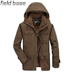 New Winter Jacket Men Brand-Clothing Thick Outerwear Warm Parka Jackets Fur Lining Coats Windproof Casual Windbreaker Men 1382 * AliExpress Affiliate's buyable pin. Locate the offer on www.aliexpress.com simply by clicking the VISIT button