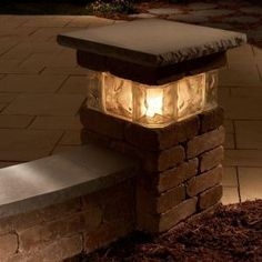 i love the look of this glowing glass-block. it makes a beautiful ... - Outdoor Lighting Ideas For Patios