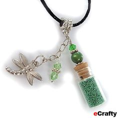 Mini Glass Bottle Charms Ideas | Supplies -Mini Glass Vial Bottle Pendant Necklace 25mm w/ Cork Charm ...