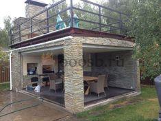 Pergola Ideas For Patio Info: 7835948717 Backyard Pavilion, Backyard Patio Designs, Pergola Patio, Backyard Landscaping, Gazebo, Pergola Kits, Outdoor Kitchen Bars, Backyard Kitchen, Outdoor Kitchen Design