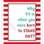 Dr Seuss Inspirational Quote for Kids