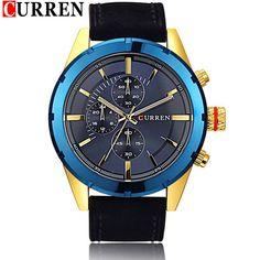 2015 NEW ARRIVAL CURREN Man Quartz Watches,Military Movement Waterproof Wristwatch Men Light Night Wristwatch relogio masculino #Affiliate