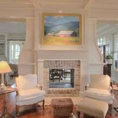 fireplace in middle of entry - Google Search