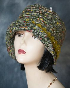 1920s vintage inspired cloche flapper hat by aileens4hats on Etsy Flapper  Hat b61cc9663067