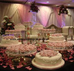 A ten layered wedding cake with alternate layers of cake and cupcakes? Cupcake Tower Wedding, Wedding Cake Stands, Wedding Cakes With Cupcakes, Elegant Wedding Cakes, Beautiful Wedding Cakes, Wedding Cake Designs, Beautiful Cakes, Cupcake Cakes, Wedding Ideas
