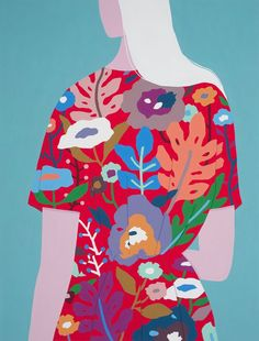 patternprints journal: BEAUTIFUL ARTWORKS AND PAINTINGS WITH FLORAL PATTERNS BY AYUMI TAKAHASHI