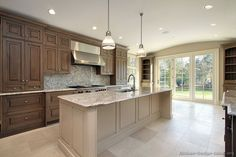 I like the brown doesnt have red undertone Pictures of Kitchens - Traditional - Two-Tone Kitchen Cabinets (Page 4)