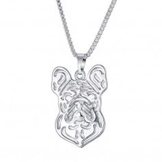 GIONO Dog Tag Locket Pendant Memorial Alloy Chain Necklace * Click image for more details. (This is an affiliate link and I receive a commission for the sales) Fashion Rings, Fashion Jewelry, Dog Necklace, Metal Necklaces, Silver Pendant Necklace, Chokers, Pendants, Chain, French Bulldog