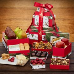 Our 2017 Grand Holiday Gift Tower will be remembered for seasons to come. Filled to the brim with tasty treats and fresh, gourmet fruits - this gift will put a smile on anyone's face.