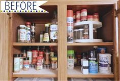 Spice Cupboard Before
