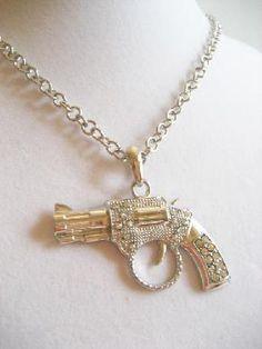 Crystal Revolver Necklace $12.50