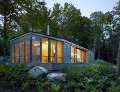Stealth Cabin, a low environmental impact, lakeside cottage near Bracebridge, Ontario, Canada by Superkul