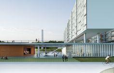 Galeria - Proposta finalista do concurso para a Moradia Estudantil da Unifesp Osasco / Albuquerque + Schatzmann arquitetos + Diego Tamanini + Felipe Finger - 6