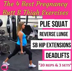 "The butt and thighs don't have to grow proportionally to the belly.  These super safe and effective pregnancy exercises are great for the butt and thighs so that they don't get ""big"" during pregnancy.  http://michellemariefit.publishpath.com/the-4-best-pregnancy-exercises-for-the-thighs-butt"