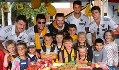 Hawthorn FC visit Harvest Launceston and put the kids through their paces.