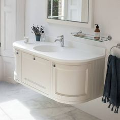 Burlington Sand 1340mm Wall Hung Curved Vanity Unit Worktop Basin Bathroomcurved Wallsvanity Unitsbathroom
