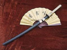 Samurai war sword Katana/Damascus steel blade/Alloy tosogu – Chinese sword shop